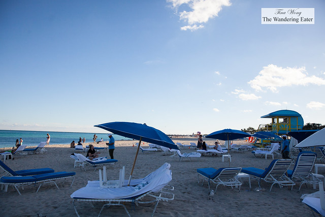 The beach club of Hilton Bently South Beach