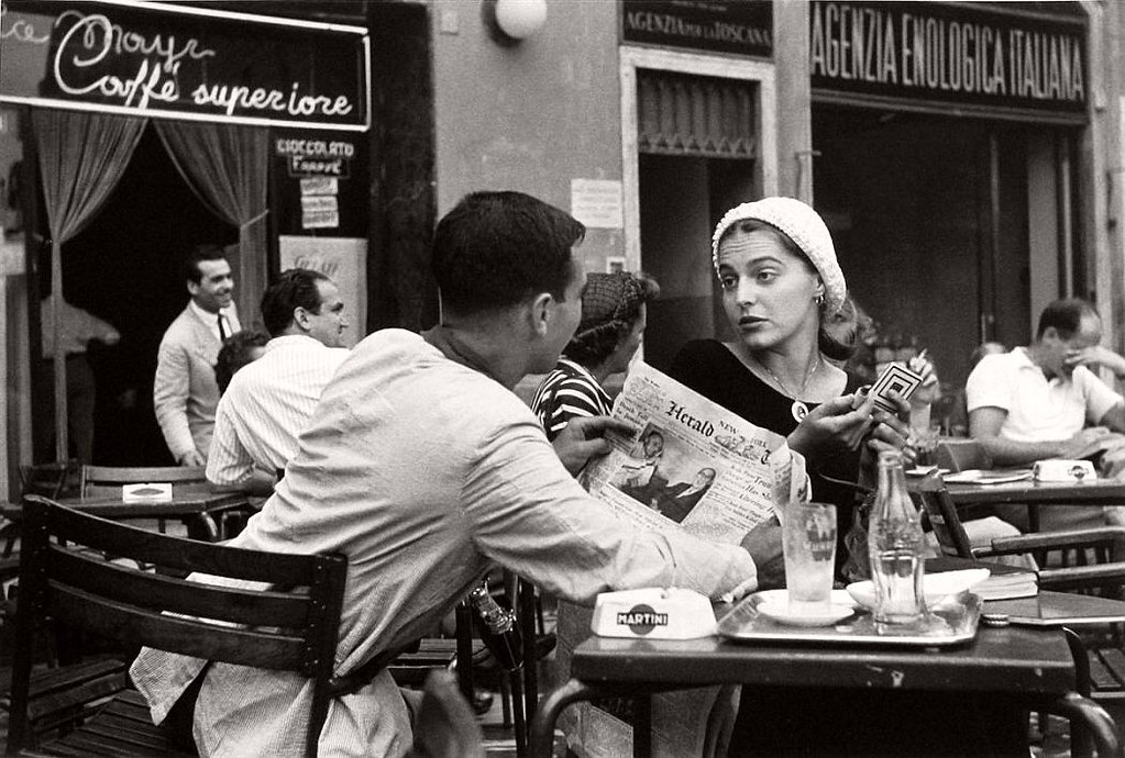 Ruth Orkin | Jinx and Justin Flirting at the Cafe, Florence