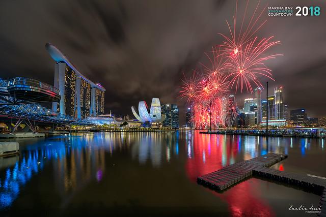 Marina Bay Singapore Countdown 2018- 2nd Firework