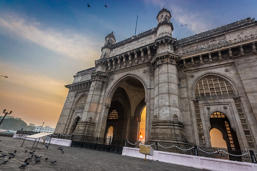 architecture building clouds colors dawn gatewayofindia hdr india monuments mumbai old outdoor sky sunrise