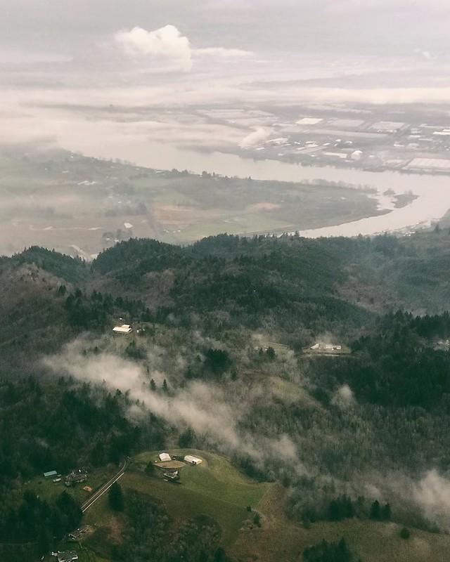 LA>Oregon = moisture.