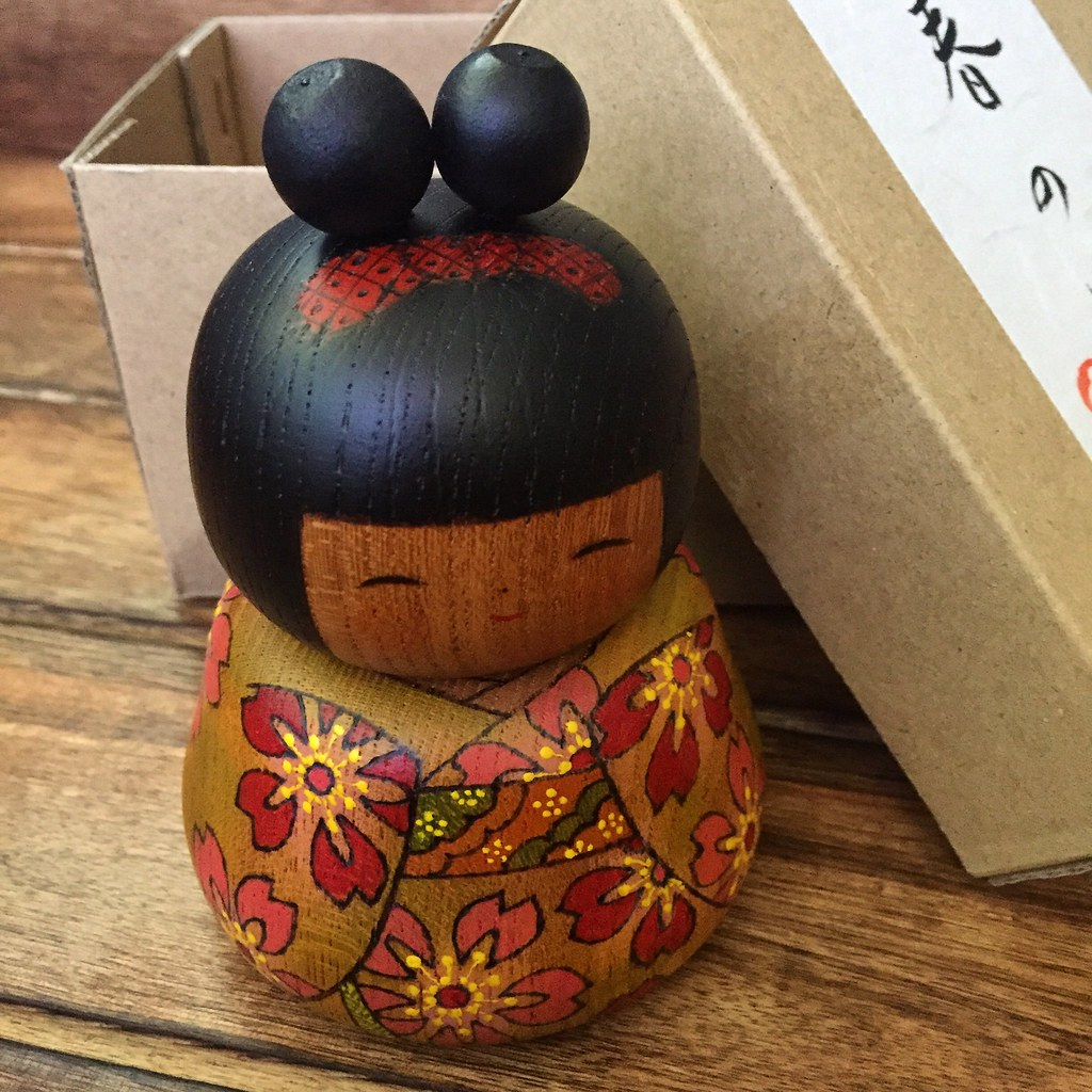 Birthday Gift From My Dear Friend Norie Japan Kokeshi Kokeshidoll