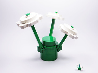 LEGO White Flower Plants with Green Stems 1x1 | by Cha Mi
