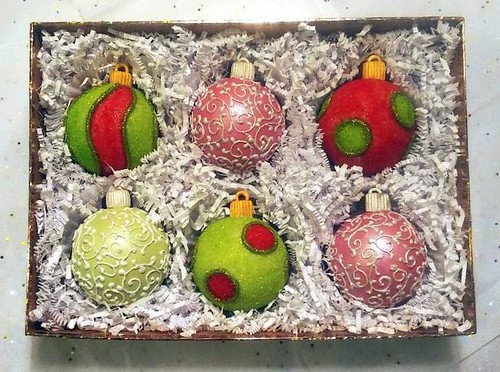 Candy Filled Christmas Bulb Cookies