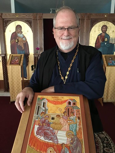 Father Stephen with Ikon | by Holy Spirit Orthodox Church