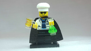 Brick Yourself Custom Lego Figure Mad Scientist with Beer | by BrickManDan