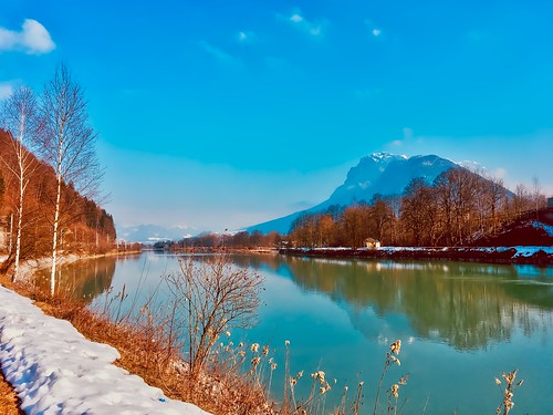 Sunny winter day in the river Inn valley with Zahmer Kaiser mountain, Tyrol, Austria | by UweBKK (α 77 on )