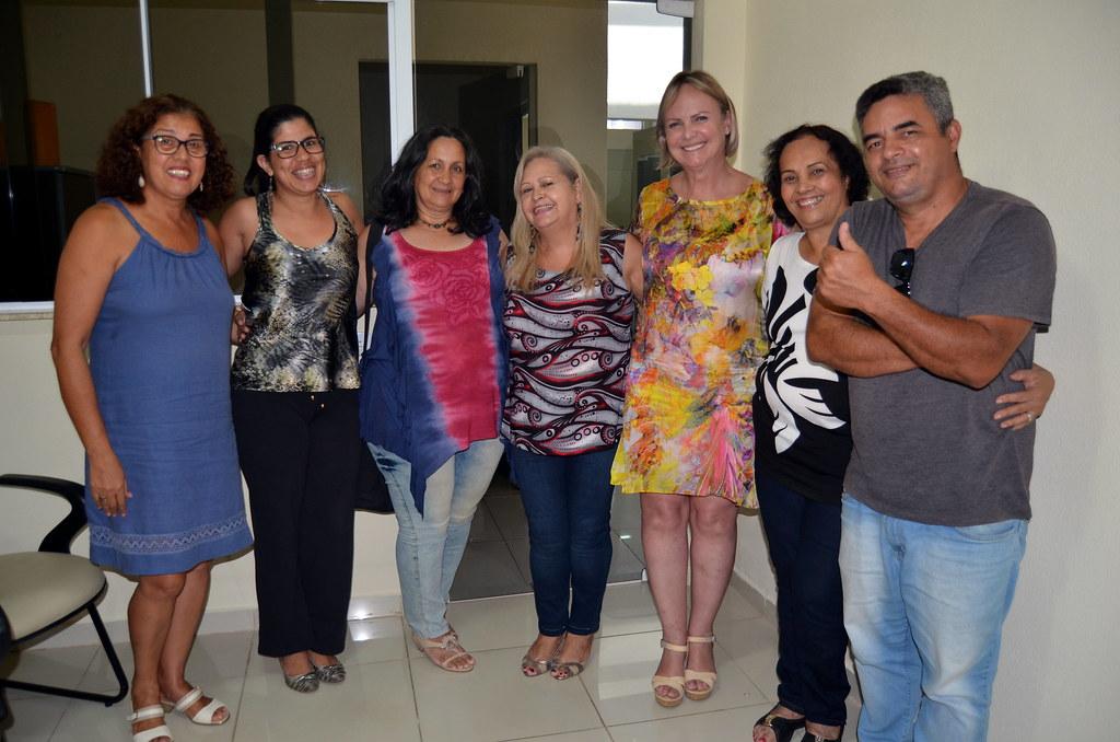 Fátima Augusti, Claudiceia de Lima Ferreira, Isabel Bonfant, Eleusa Celestino, Hilda Rodrigues Lima e Edmilson Monteiro
