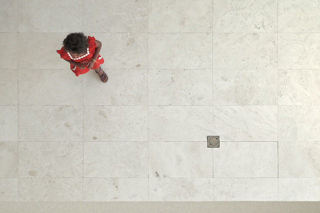 Looking down @ the new Acropolis museum