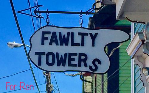 sign streetsigninlunenburgns novascotiacanada roncogswell fawltytowerslunenbergns fawltytowers lunenbergns