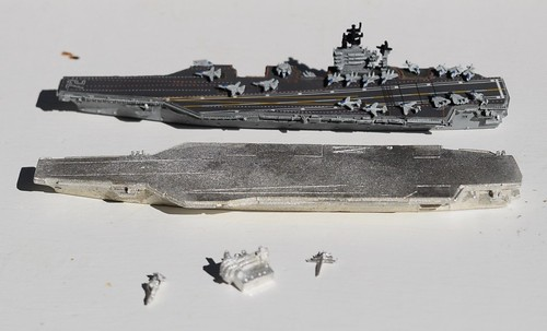 GHQ USS Roosevelt & Viking Forge Stennis (Nimitz) CVN aircraft carrier miniature | by whenimaginationfails