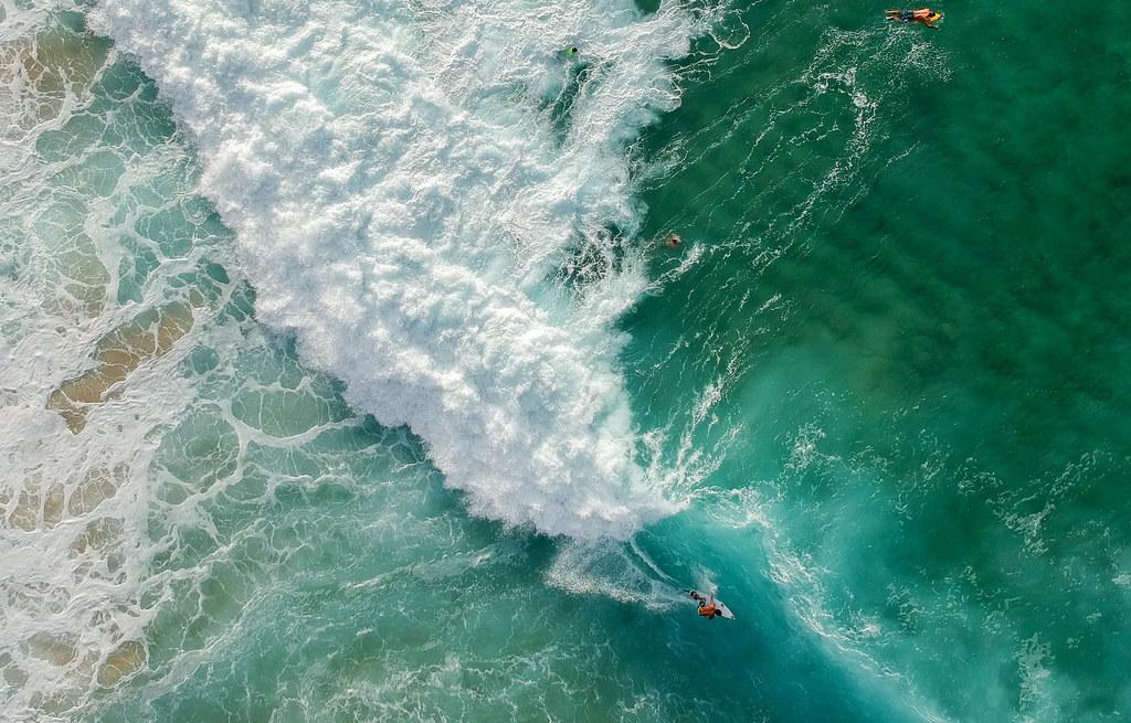 oahu north shore surfers aerials