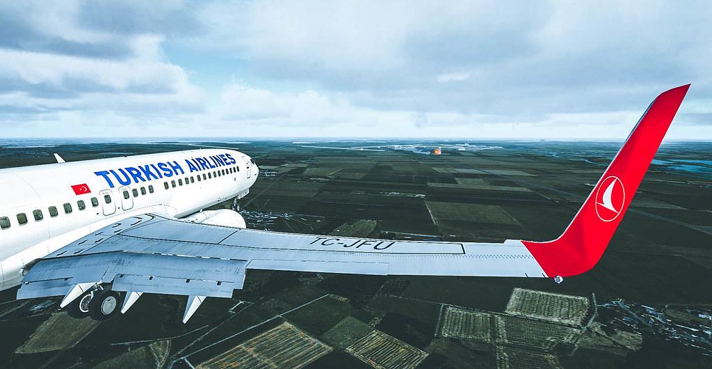 FSX | PMDG Boeing 737-800 Turkish Airlines | (LFPG) Paris