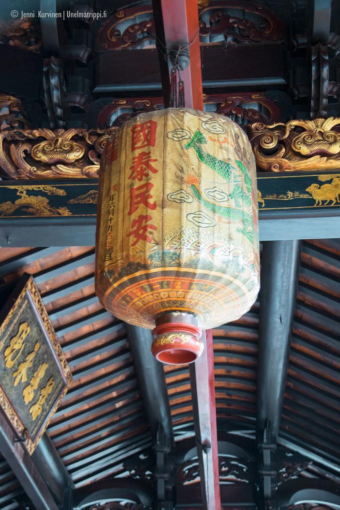 Koristeellinen paperilyhty Cheng Hoon Tengin temppelillä