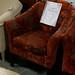 Red velvet tub chair E80