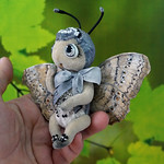 Gray Pansy butterfly toy