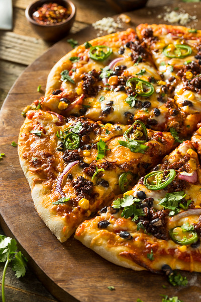 Homemade Spicy Mexican Taco PIzza