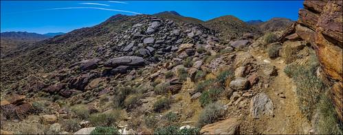trail hiking indiancanyons palmsprings california martinsmith ©martinsmith samsunggalaxys8 unitedstates us landscape mountain boulders bluesky aguacalienteindiancanyons