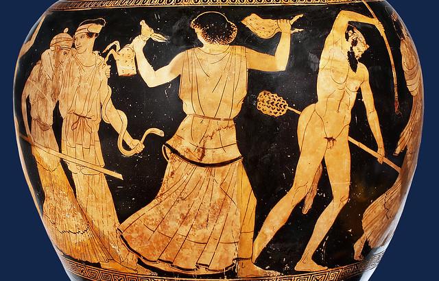 Greek vase 022 La folie dionysiaque, detail 12bs - BNF de Ridder 357