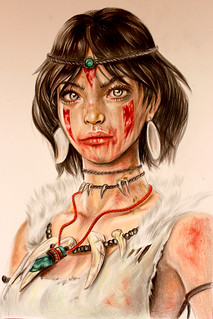 Color Pencil Art - Drawing of a Native American Character