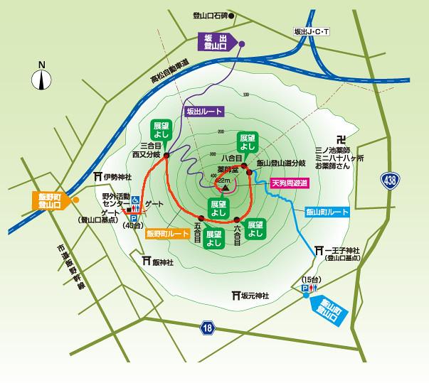讃岐富士地図