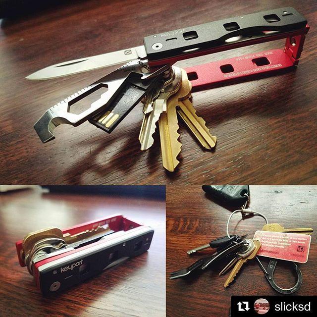 Repost via @slicksd ・・・ Got my new Keyport Pivot all dialed in! Pretty sweet. Definitely put the kibosh on my daily key qualms 👍 #keyportpivot #edc #conversion #beforeandafter #everydaycarry #edcknife #keyorganizer #pockettool #keyport #mykeyport