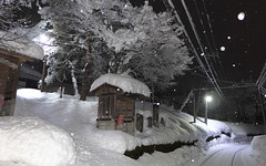 駅付近の名入集落(冬)
