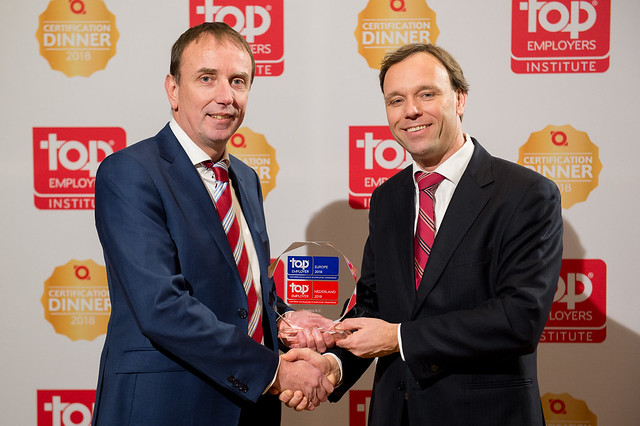 Top Employers Nederland Certification Dinner 2018