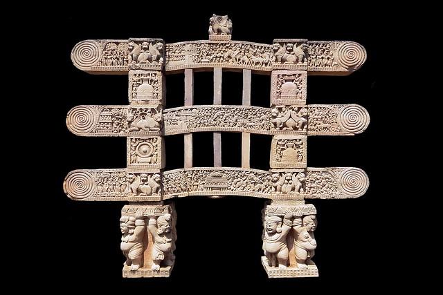 India - Madhya Pradesh - Sanchi - Great Stupa - Torana - 26f
