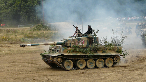 Replica PzKpfw VI Tiger in the markings of the 1st SS Panzer Division Leibstandarte
