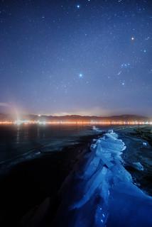 Winter galaxy across the God(omiwatari) | by masahiro miyasaka