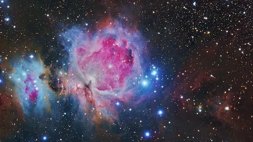 messier 42 orion nebula great ngc1999 43 trapezium astro astrophotography nevel hydrogen ha pixinsight running man astropixelprocessor qhy16200