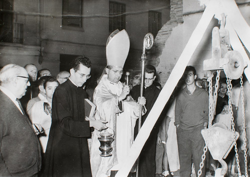 15 octubre 1961 [1] - Emilio Benavent, Obispo Coadjutor, bendice la primera piedra