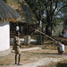 Old thatch and new. Kafwala, Zambia