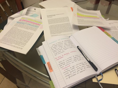 Reading and AcWri in Everything Notebook