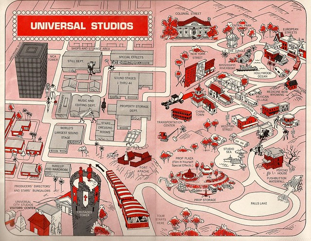 Universal Studios Map - August 1969