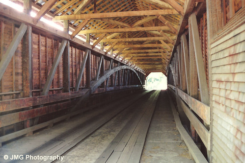coveredbridge outdoors naturallight meemsbottombridge shenandoahcounty virginia historic woodenstructure interior