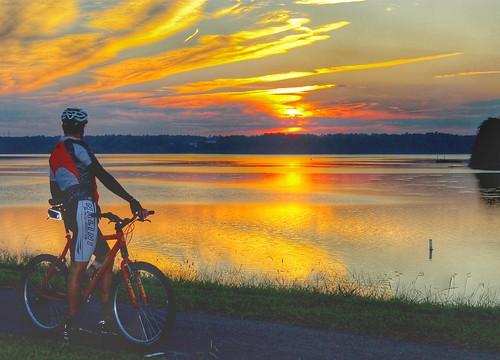 abrahamlincoln sunset bicycle durhamnorthcarolina
