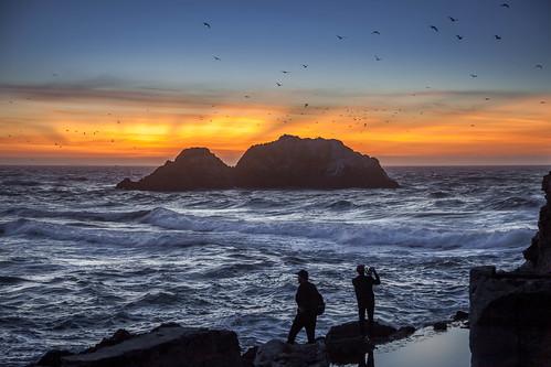 outdoors ocean oceano ocaso outdoor sunset seascape sanfrancisco sky sundown sunrise clouds california color canon5dmkii canon24105mmf4l coast coastline