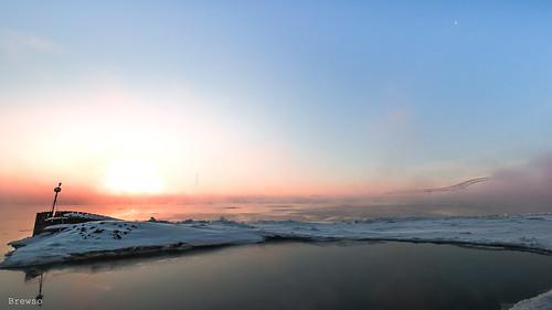 très sunrise fleuvestlaurent mist frimas stlawrenceriver m43 landscape omdem1mll olympus givre μ43 stlaurent olympusm714mmf28128pro troisrivières levéedusoleil ice