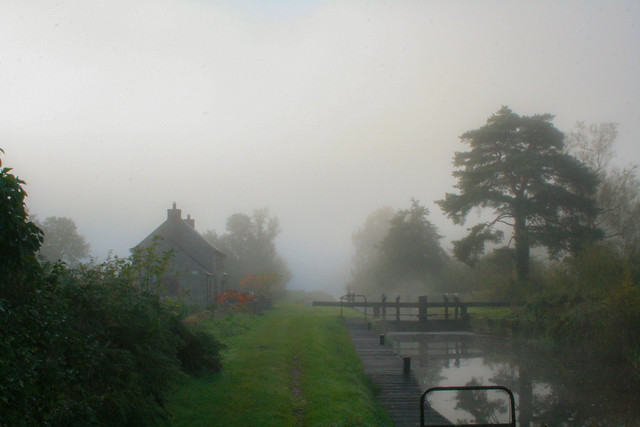 Cottage in the mist