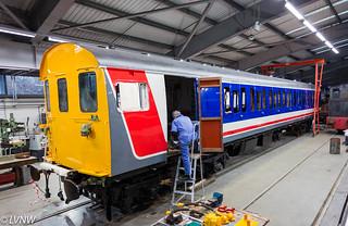 Class 414 2HAP unit No. 4308 undergoing cosmetic  restoration