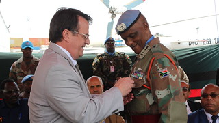 Farwell Force commander at Goma airport | by MONUSCO