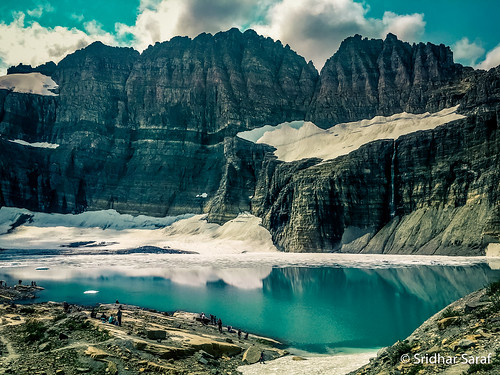 Upper Grinnell Lake below the Grinnell Glacier, Glacier National Park, Montana