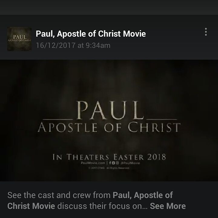 Paul, Apostle of Christ Movie www.paulmovie.com @paulmovie (Facebook) @paulmovie (Instagram) @paulmovie (Twitter)  https://youtu.be/T_Cbyl6ykhw