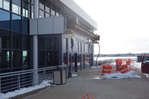 ROC Greater Rochester International Airport new approach road canopy construction 2018 March 5, photo 2