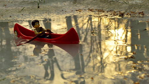 nikon d3200 adventurerjoe project365 boat oars ice water winter thaw reflection lego sun sunset row usa ct avon