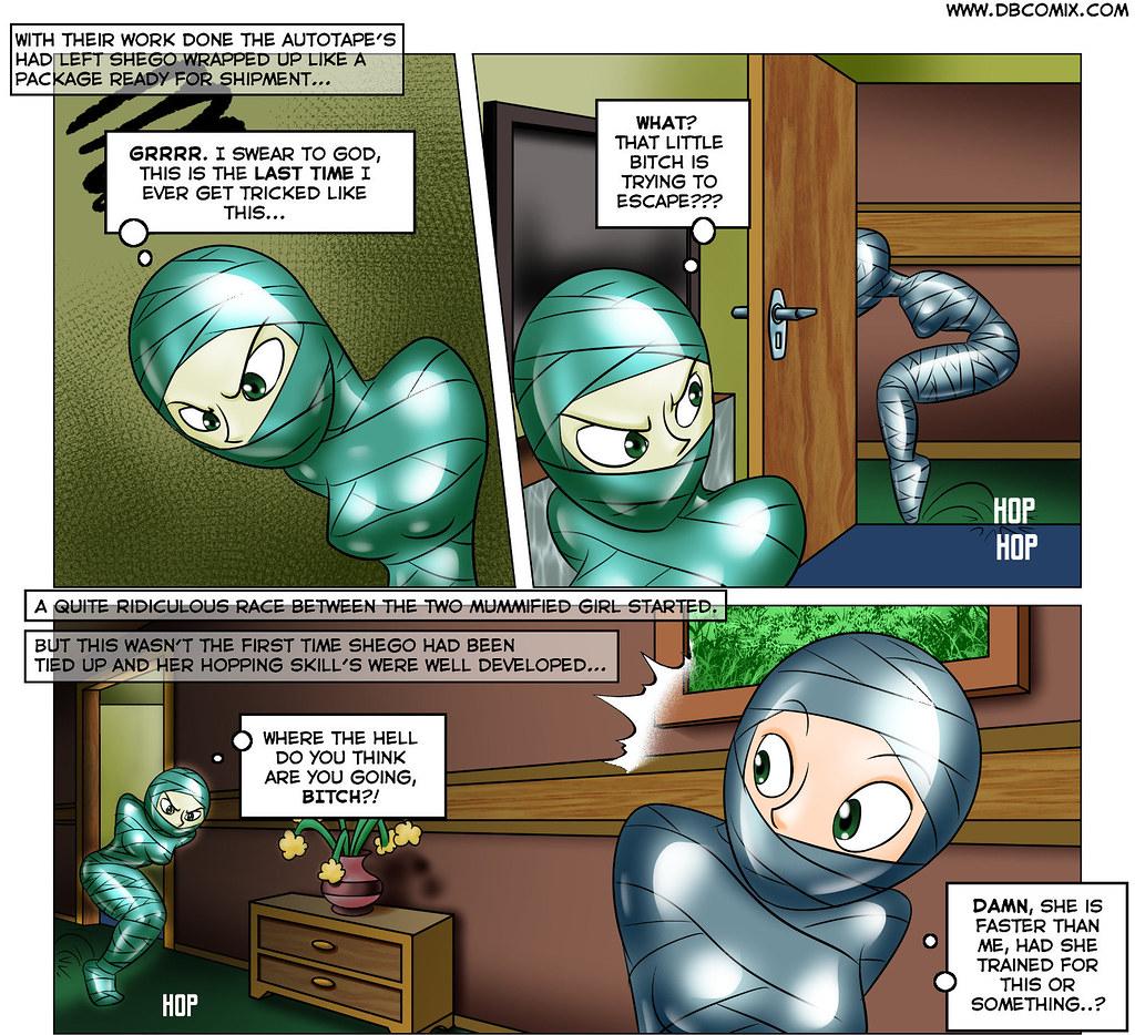 kim shego mummified in bondage | Captured, bound and