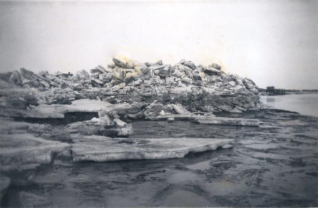 Vlieland - wad achter dorp - winter 1940