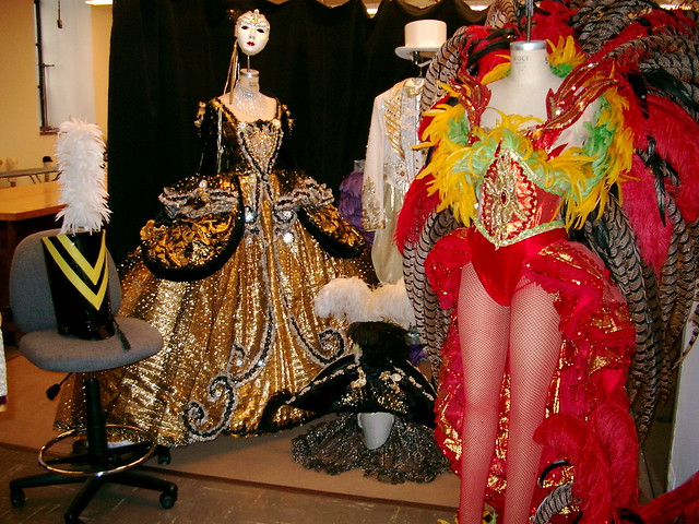 Costume room for the Rockettes